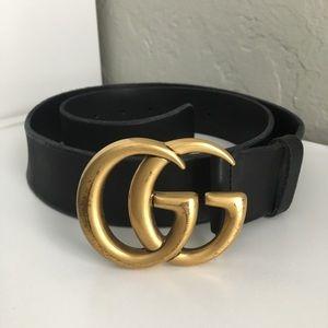 Authentic GUCCI black leather belt size 90